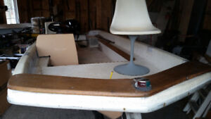 Bateau de pêche (base boat) et moteur Mercury 20HP