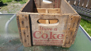 Coca-Cola Coke old wooden crate