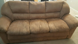 Microsuede couch - very clean