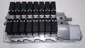 Norgren Pneumatic Solenoid Valve Assembly w/ (8) VS18S511DF318A