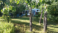 31' Dutchman on private lot at Flat Rapids Camp, French River