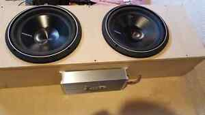Used Rockford Fosgate speakers + sub box and amps