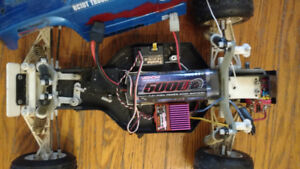 Traxxas RC 10 with lots of extras $150