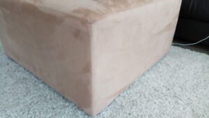 Large Beige Suede Ottoman - Excellent Condition!