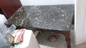 coffee table and 1 side table set ( fake granite) Cambridge Kitchener Area image 2