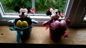 Peluches Mickey mouse et mini