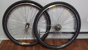 Bicycle wheel set.