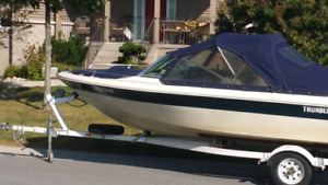 Bow rider motor and trailer