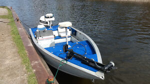17' princecraft 90hp fishing boat