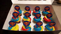 Superman Cupcakes- Nut Free