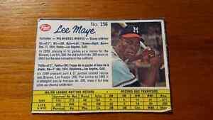Post Cereal Box 1961 Lee Maye Baseball Card