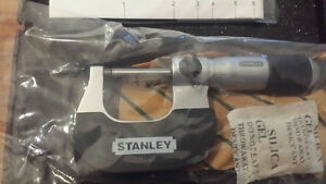 Stanley Ratchet Friction Professional Outside Micrometer 0-25mm London Ontario image 3