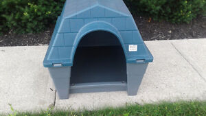 Plastic indoor outdoor doghouse  ,made by gracious living