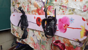 Snowboard, boots, bindings and goggles