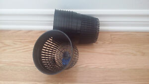 NEW.5.5 Inch Round Orchid/Hydroponics Slotted Mesh Net - 5 Pots,