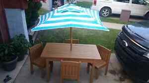 Kids wodden patio furniture!