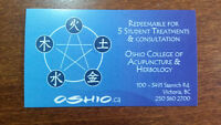 5 Acupuncture sessions for $85 in Oshio college