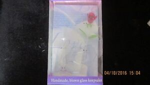 Collectible Glass Blown Rose Brand New