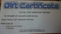 $50 Gift Certificate from Total Tint Window Tinting