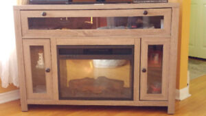 Corner TV stand with electric fire place *price lowered*
