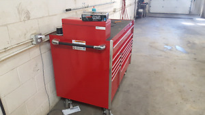 Snap-on tool box with some Snap-on Mac and Mastercraft tools