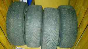Selling 4 Winter Tires on Rims P185/65 R14 - only $80