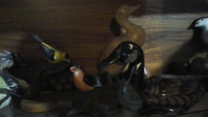 This is my collection of decoy birds some are sighned
