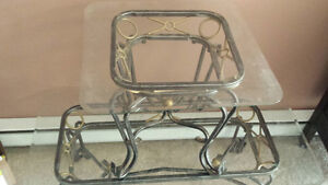 Glass coffee table and end table Peterborough Peterborough Area image 1