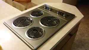 White-Westinghouse Electric Cooktop + Wall Oven in Stainless