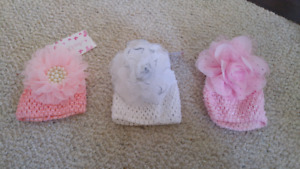Baby Girl Hats (0-3 months)