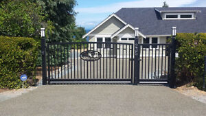 Custom Aluminum Driveway Gates & Automated Gate Opening Systems! Comox / Courtenay / Cumberland Comox Valley Area image 9