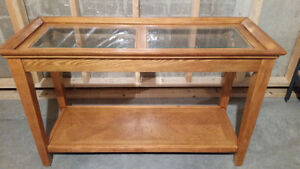 Console Table and End Tables