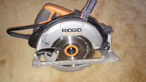 Rigid Circular Saw, 15 Amp & Comes With 2 Blades, $70obo