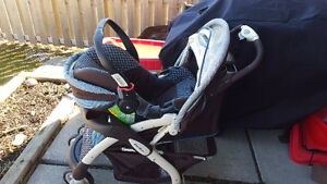 Eddie Bauer stroller and infant car seat combination