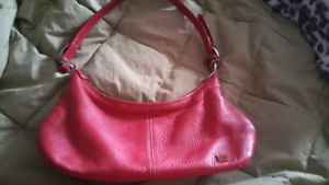 Red leather Sak purse