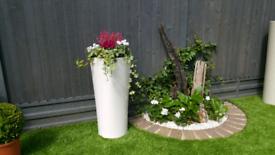 Flower Pot / Planter - Premium, quality large, white gloss planters.