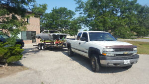 2001 Chev 4X4 2500 HD Extended Cab Pick Up