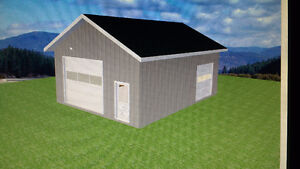 24 X 32 GARAGE OR OYSTER BOAT STORAGE PACKAGE ON YOUR SIT