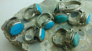 Turkish turquoise jewelry unusual silver detailed rings