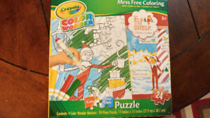 Elf on the Shelf colouring Puzzle -  Brand New