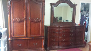 Dresser with Mirror & Armoire - $1000