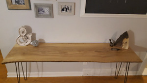 Live Edge Desk/Entryway Table - One of a Kind!