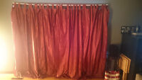 Set of 4 gorgeous red curtains