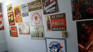 Various coke, league of legends, flag and more posters/sign