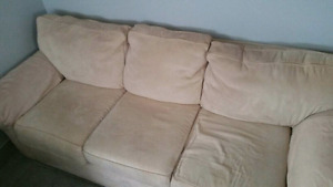 Beige couch must go