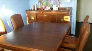 Dining set and sideboard