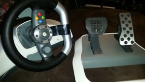 xbox360 steering wheel pedal wireless
