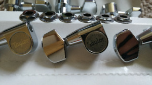 6x original silver Taylor tuning machines (3L, 3R)