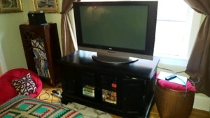 "40"" LG Plasma HD TV with solid wood stand"