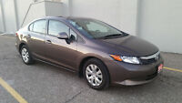 2012 Honda Civic LX Sedan ONE OWNER OFF LEASE LOW-LOW_LOW KM,S